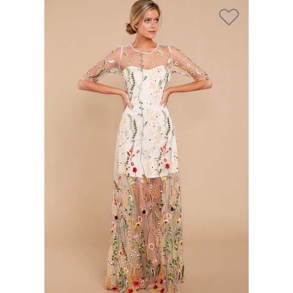 765125ee66 Catwalk Couture Nude Embroidered Maxi Dress